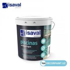 Краска акриловая для бассейнов Isaval Piscinas Acrilica