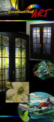 Stained-glass windows, fyyuzing, Tiffany, a