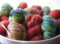 Production of a yarn