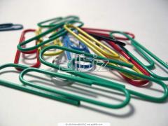 Скрепки пластиковые