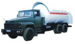 Cars for transportation of the liquefied gas