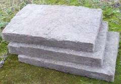 Теплоизоляционный материал на основе базальтового волокна, облицованный фольгой