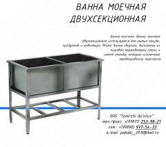 Bathtub for a sink two-section welded, Tashken