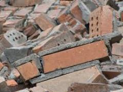 The brick is beaten