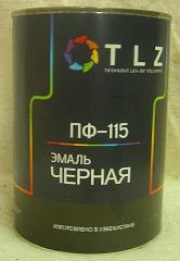 Алкидная эмаль ПФ - 115 черная для наружных работ