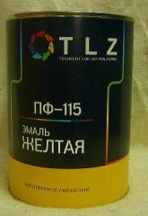 Алкидная эмаль ПФ - 115 желтый для наружных работ