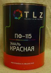 Алкидная эмаль ПФ - 115 красная для наружных работ