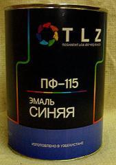 Алкидная эмаль ПФ - 115 синяя для наружных работ