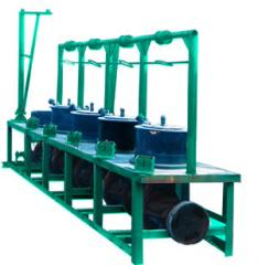 The machine is drawing. Metallurgical cars and