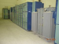 Complete transformer substation of industrial type