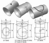 Self-flowing pipe F120 of mm, mm F120 knee,