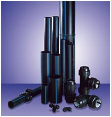 Pipes water-pressure of polyethylene of high