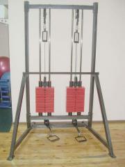 Силовой тренажёр Блочная рамка двойная 0105