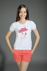 T-shirt female with embroidery