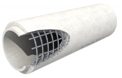 Reinforced concrete pipe pressure