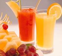 Соки натуральные, фруктовые коктейли, Соки и