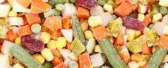 Quick-frozen vegetables
