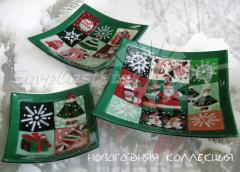 New Year's gift souvenirs from color glass