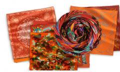 Платки женские шелковые