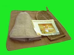 Sets for saunas from camel wool