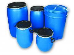 Barrels are plastic