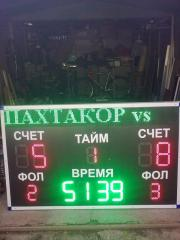 Board for sport (soccer, minisoccer)