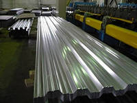 Professional flooring from galvanized steel