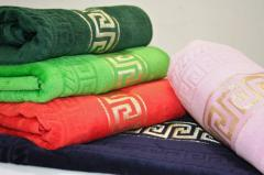 Terry towels from cotton of the different sizes
