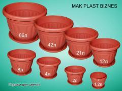 Горшки для цветов пластмассовые