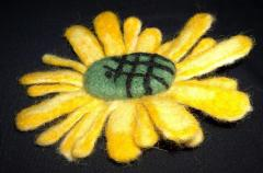 Brooch of a manual fulling from wool