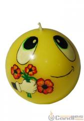 Candle decorative Sphere 065th smile