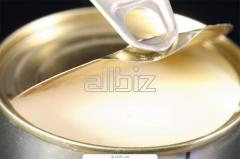 The milk condensed with sugar