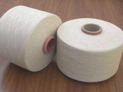 100% хлопчатобумажная пряжа кольцепрядильная для