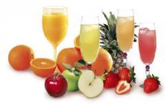 Соки с одного вида фруктов  и микс в ассортименте