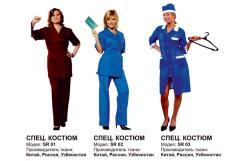 Спецодежда для продавцов, рабочая одежда