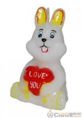 Candle the Hare with a heart. Article: 364