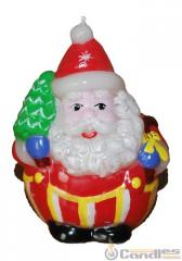 Candle Santa Claus with a fir-tree. Article: 354