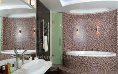 Majolica tile for a bathroom