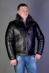 Winter leather jackets man's