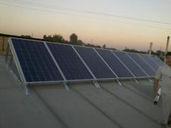 Solar panels, solar batteries, inverters,