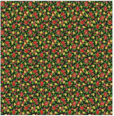 Fabrics cotton with a pattern of flowers