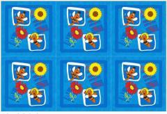 Fabrics flannel for children's bed linen