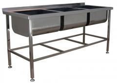 The equipment from stainless steel for kitchens