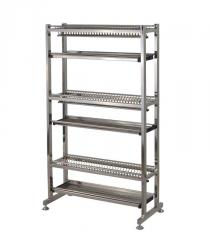 Racks corrosion-proof for food productions.