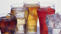The soft drinks aerated