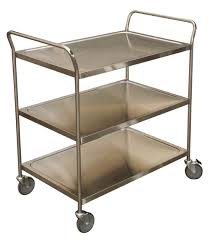 Carts serving of stainless steel
