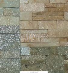 Кирпич облицовочный рваный камень