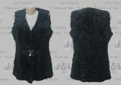 Vests from fur