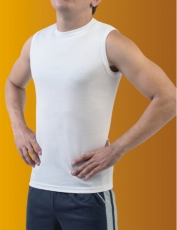 Undershirt hb without sleeves man's Cotton of