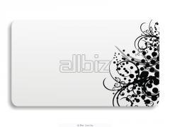 Визитки черно-белые